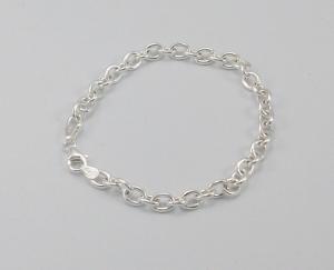 Anchor Link Sterling Silver Bracelet (6.00mm Width)