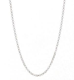 Belcher Link Chain –  Rhodium Plated (3.40mm Width)