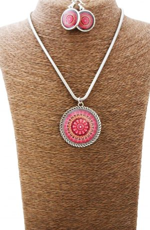 Blooming Flower Mandala Jewellery Set