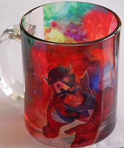 Captain America Glass Mug