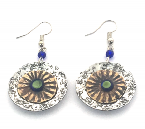 African Dizzy Circle Earrings
