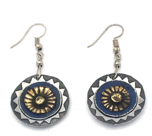 African Circle Earrings