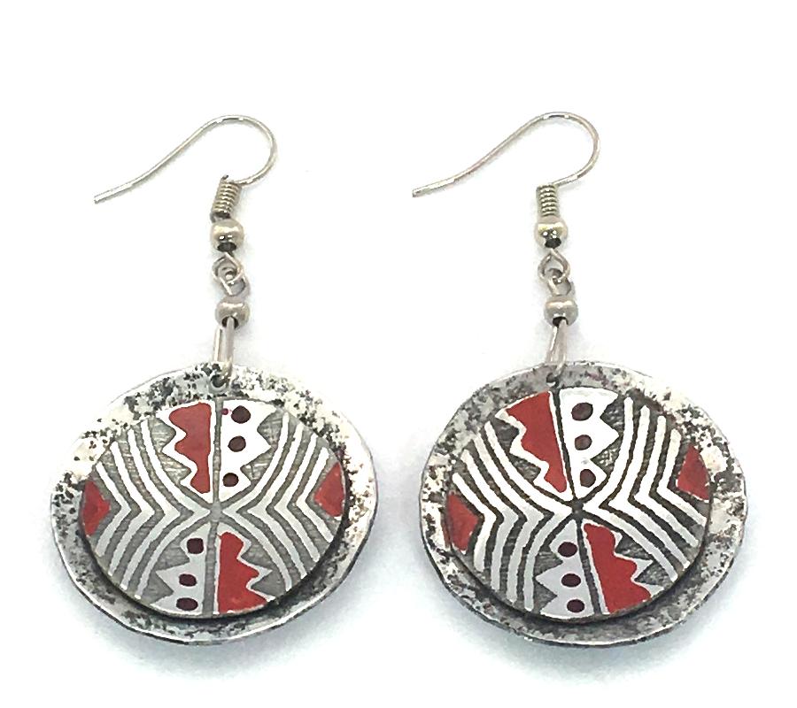 African Zig Zag Earrings