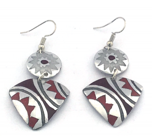 African Tri Earrings