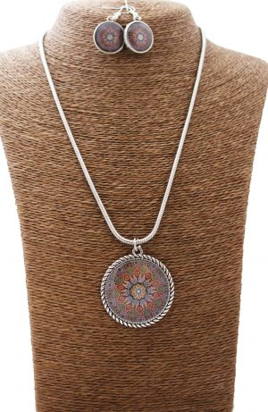Earthy Mandala Jewellery Set