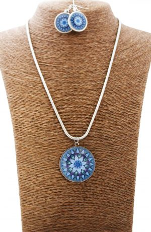 Electric Blue Mandala Jewellery Set