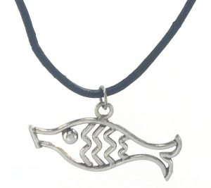 Fish Pendant Leather Cord
