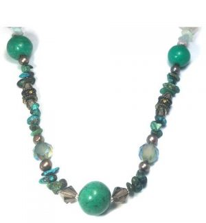 Turquoise and Malacite Necklace
