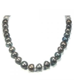 Oilslick Fresh Water Pearl Necklace