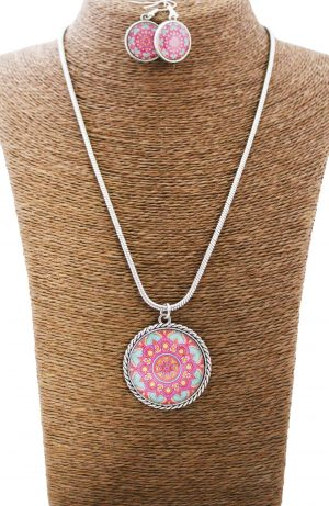 Vibrant Girly Mandala Jewellery Set