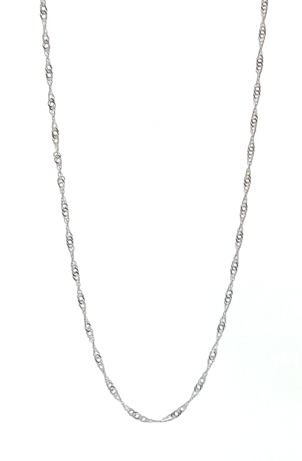 Singapore Link 925 Sterling Silver Chain (1.80mm Width)