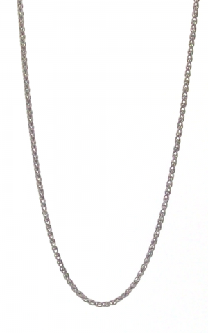 Wheat Rhodium Plated Link Chain (2.00mm Width)