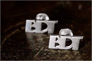 Initials Personalised Cufflinks – Block Style