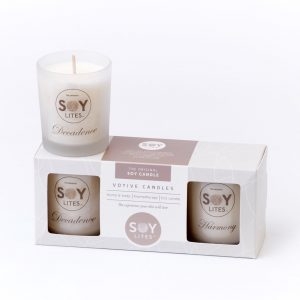 Assorted Moisturising Soy Candle Gift Pack – Balance, Decadence & Serenity 3 X 70ml