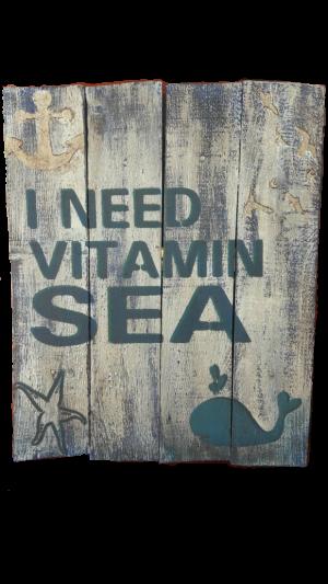 Vitamin sea square wall hanging