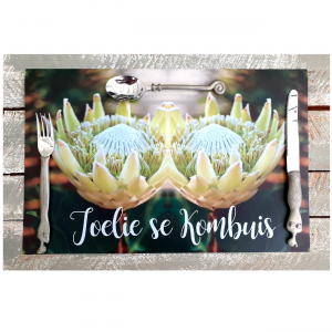 White Proteas Placemats