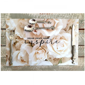 White Rose Placemats
